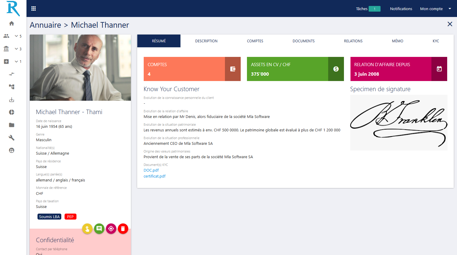 Profil client